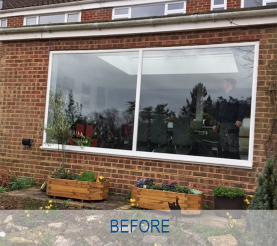 Aluminium Bi-fold doors before