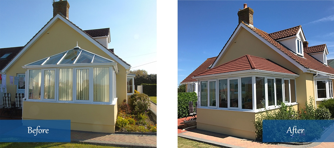 Tiled Conservatory roof replacement